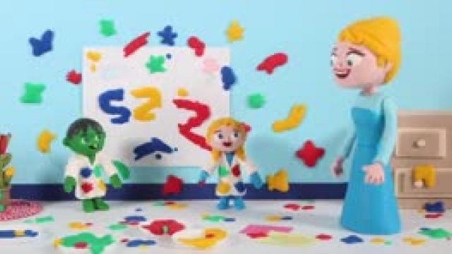 دانلود انیمیشن خانواده خمیری این قسمت Kids Have Rainbow Colors Paint On