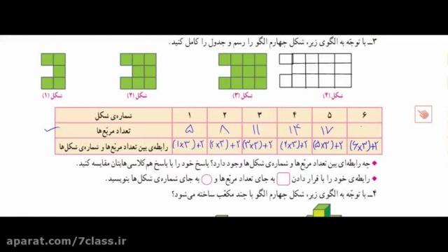 آموزش ریاضی ششم دبستان کامل ، حل تمرین صفحه 6 (بخش دوم)