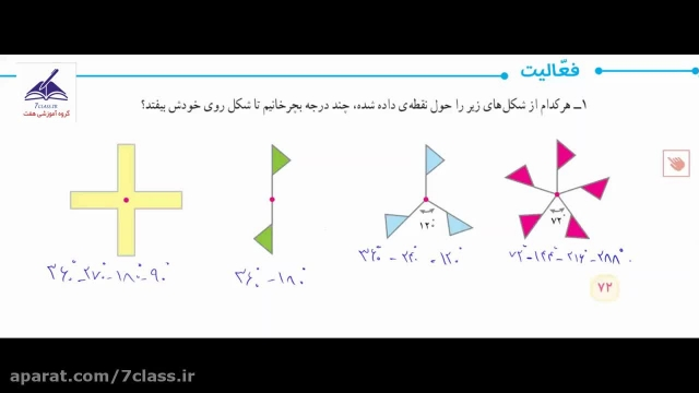 آموزش ریاضی ششم کامل ، فعالیت صفحه 72 و 73