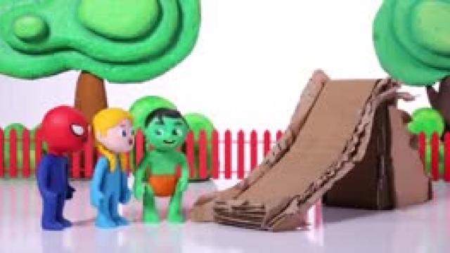 دانلود انیمیشن خانواده خمیری این قسمت  The Rain Destroyed The Cardboard Slide