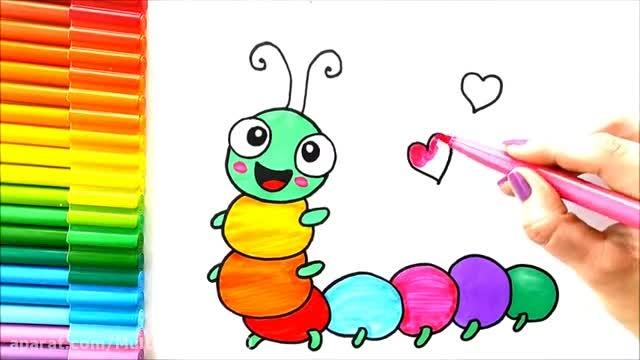 آموزش نقاشی برای کودکان/نقاشی کرم ابریشم