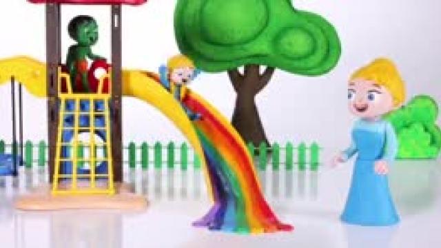دانلود انیمیشن خانواده خمیری این قسمت Kids Playing In A Rainbow Slids
