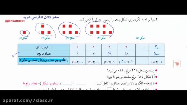 آموزش ریاضی ششم دبستان کامل ، تدریس صفحه به صفحه 2