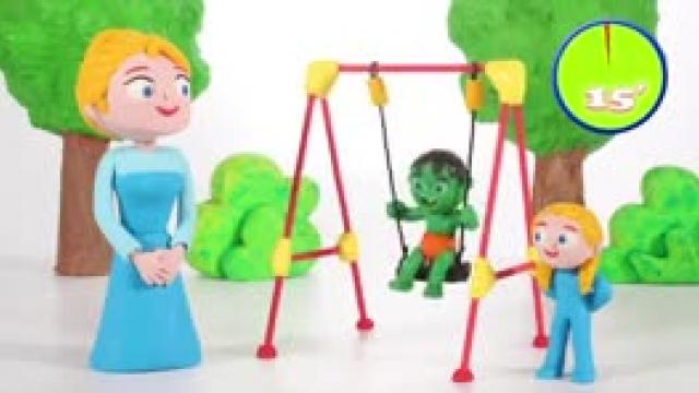 دانلود انیمیشن خانواده خمیری ایتن قسمت  Kids Learning How To Take Turns