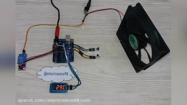 آموزش ساخت مدار کنترل دمای محیط با سنسور DS18B20 و آردوینو