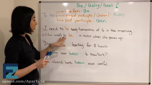 آموزش کاربرد های be و being و been در انگلیسی