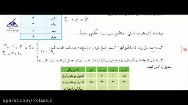 آموزش فصل 7 ریاضی پنجم دبستان ، کار در کلاس صفحه 131 !