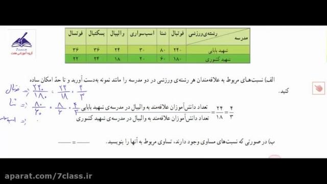 آموزش ریاضی پنجم دبستان ، تمرین صفحه 52