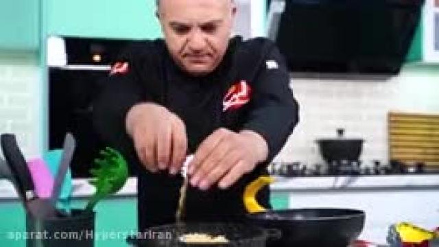 روش پخت سریع و سه  خوراک مرغ و قارچ و خامه