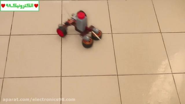 آموزش ساخت یک ربات کنترل از راه دور قوی جهت تمیز کردن سطوح !